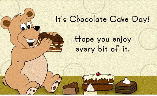 National Chocolate Cake Day 2018 - January 27