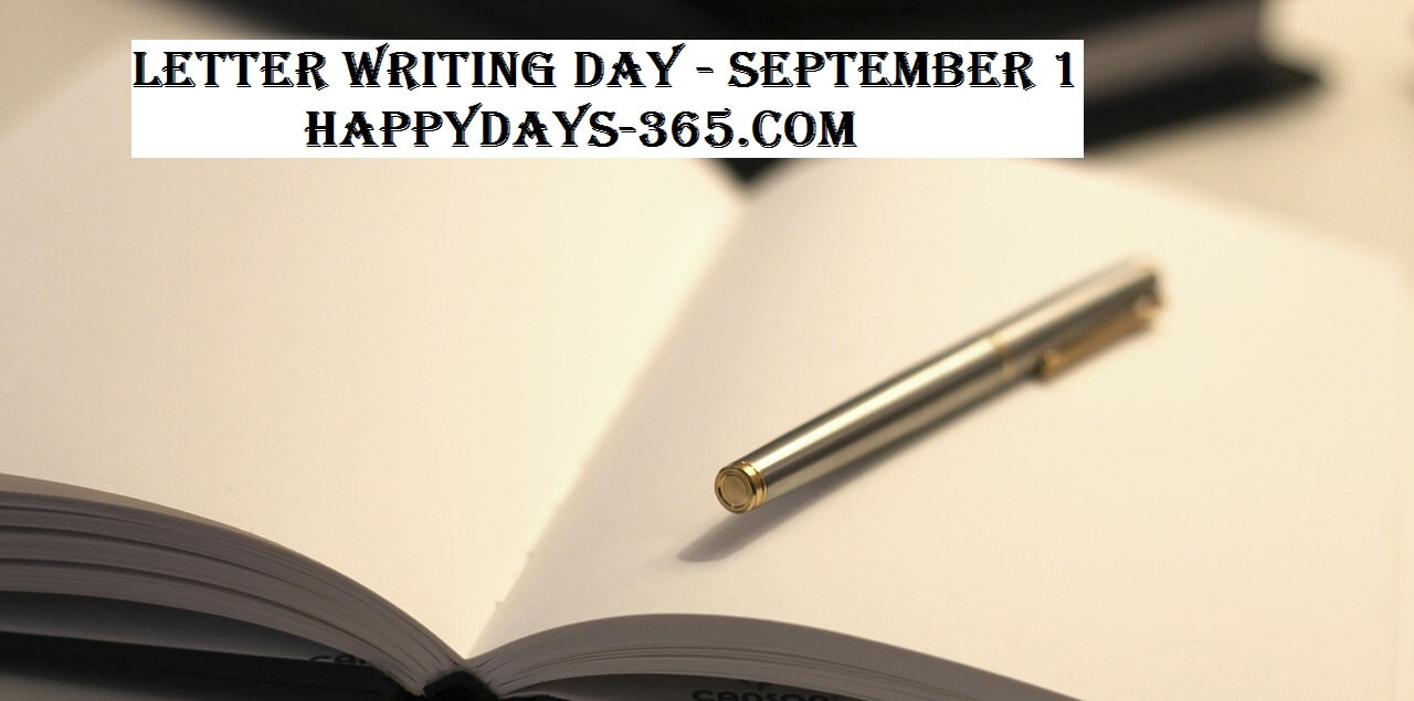 Letter Writing Day – September 1, 2017