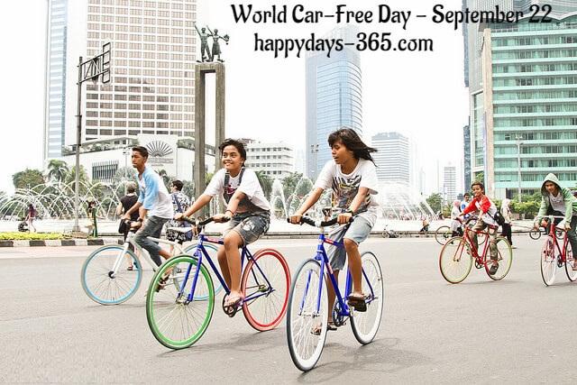 World Car-Free Day – September 22, 2018