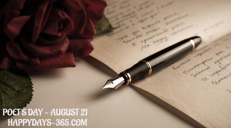 Happy Poet's Day – August 21, 2019