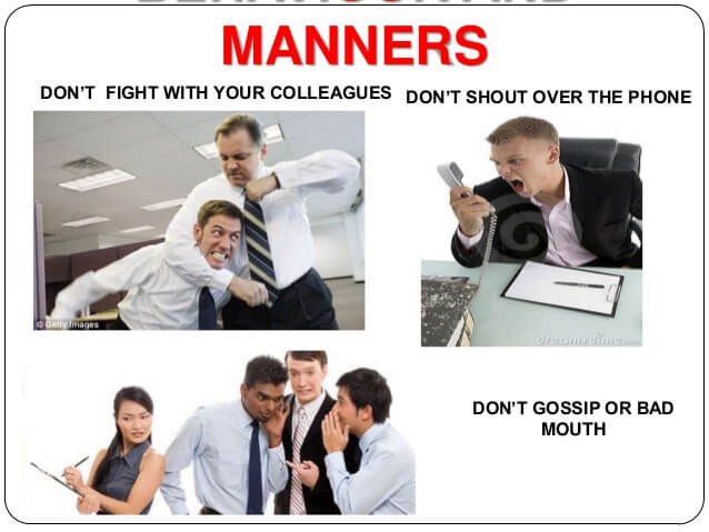 Bring Your Manners To Work Day