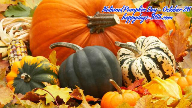 National Pumpkin Day – October 26, 2019