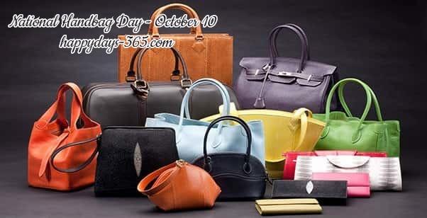 National Handbag Day – October 10, 2019
