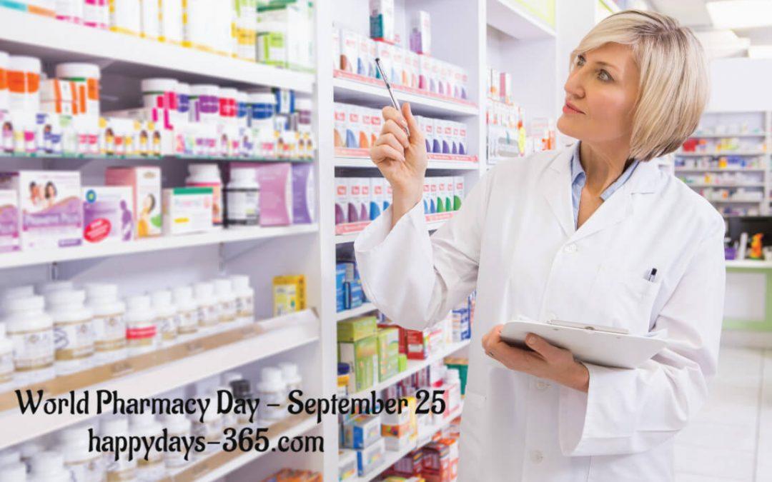World Pharmacy Day – September 25, 2019