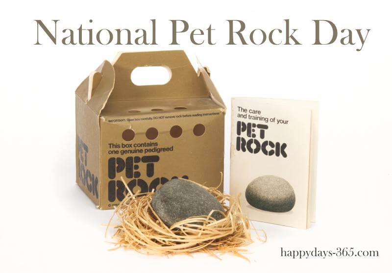 National Pet Rock Day – September 2, 2018