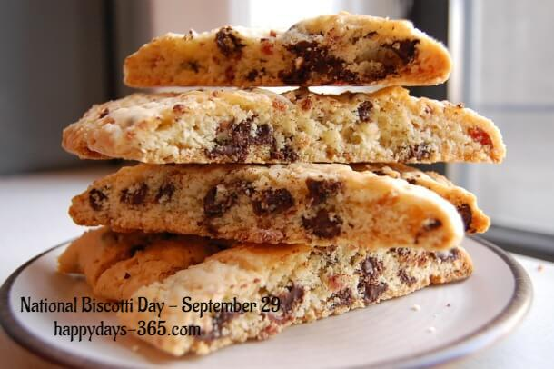 National Biscotti Day – September 29, 2018