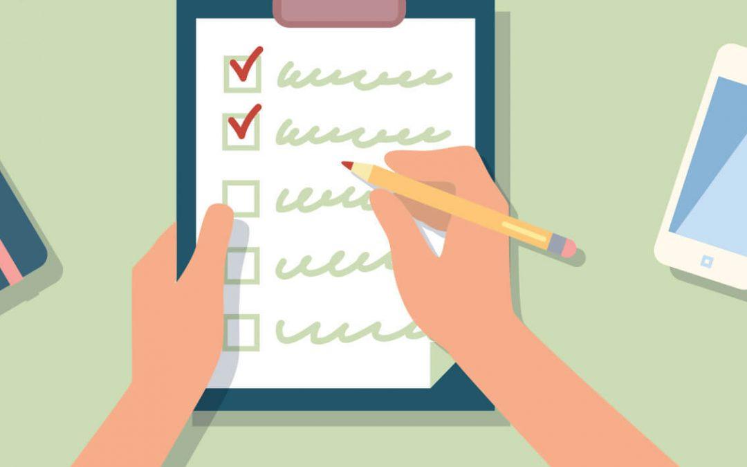 Checklist Day – October 30, 2020