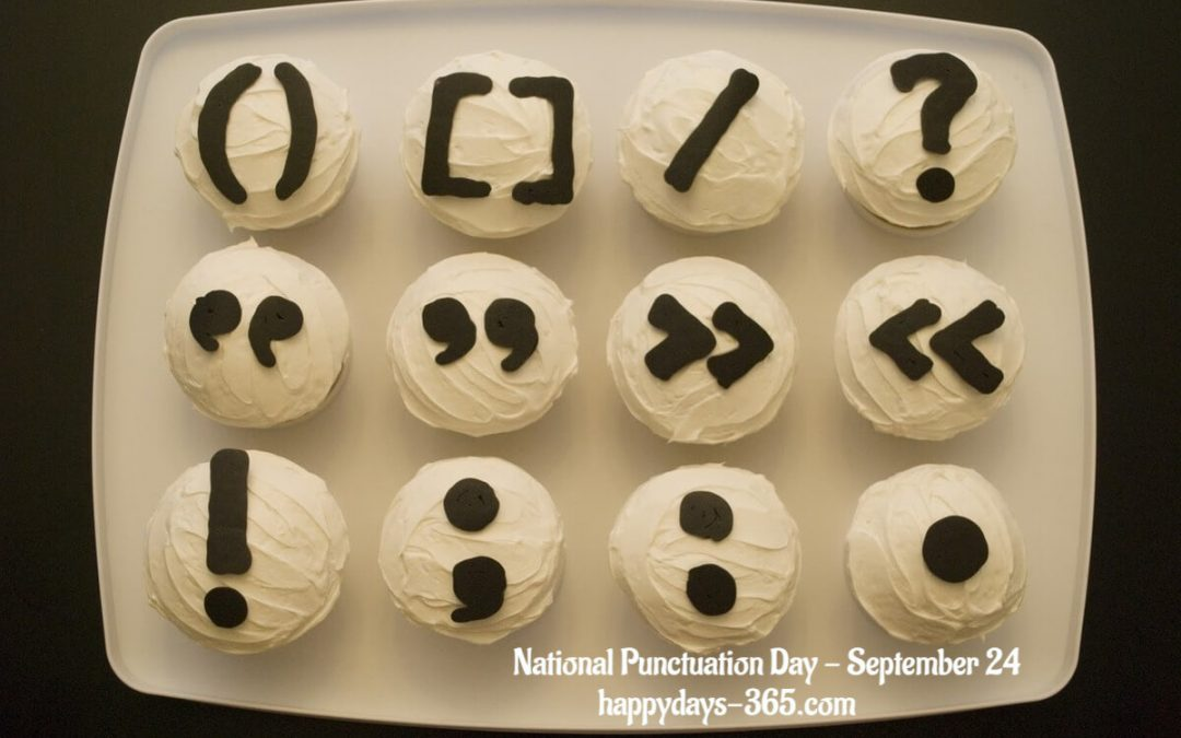 National Punctuation Day – September 24, 2018