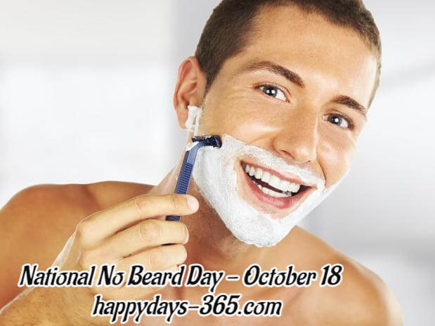 National No Beard Day – October 18, 2018