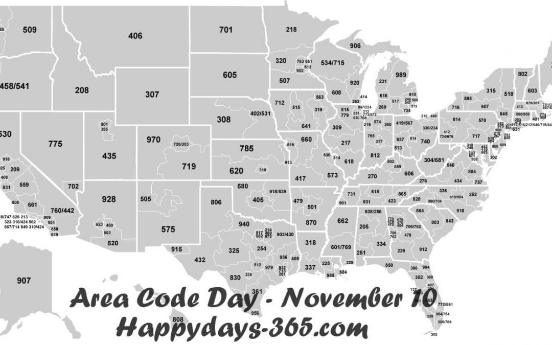 National Area Code Day – November 10, 2018