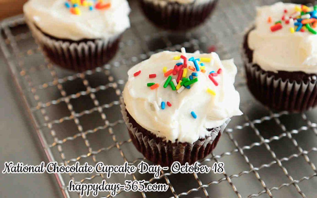 National Chocolate Cupcake Day – October 18, 2019