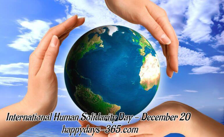 International Human Solidarity Day – December 20, 2019