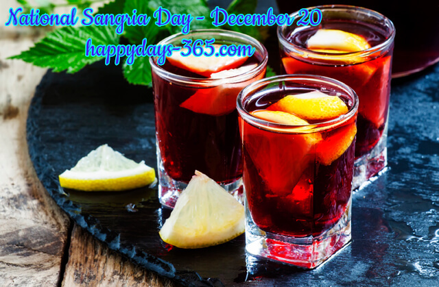 National Sangria Day – December 20, 2019