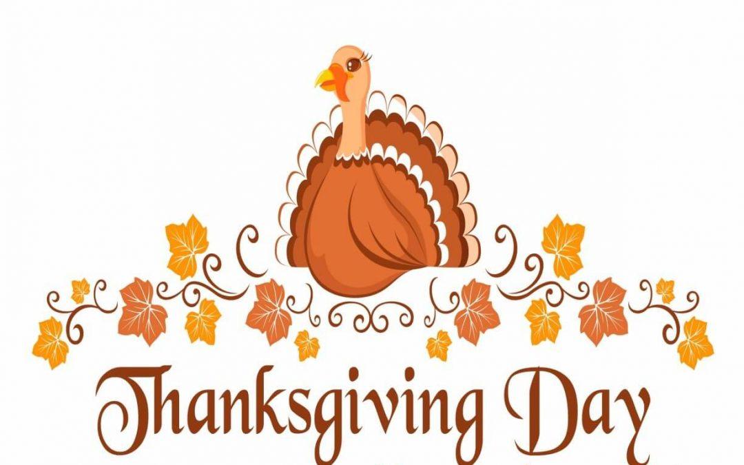 Happy Thanksgiving Day – November 26, 2020