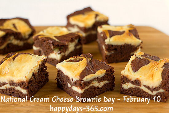 National Cream Cheese Brownie Day – February 10, 2020