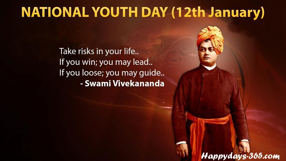 National Youth Day in India – January 12, 2020