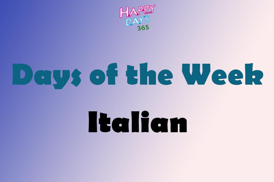 Days of the Week in Italian