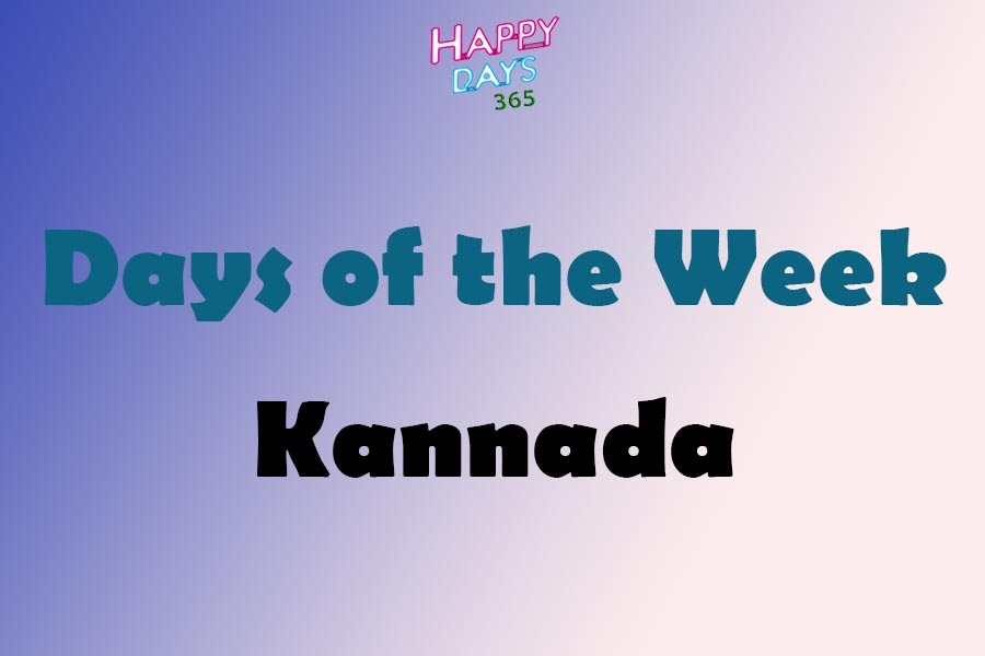 Days of the Week in Kannada