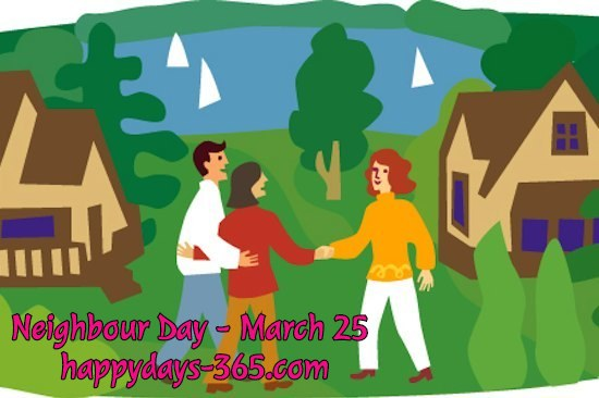 Neighbour Day – March 25, 2018