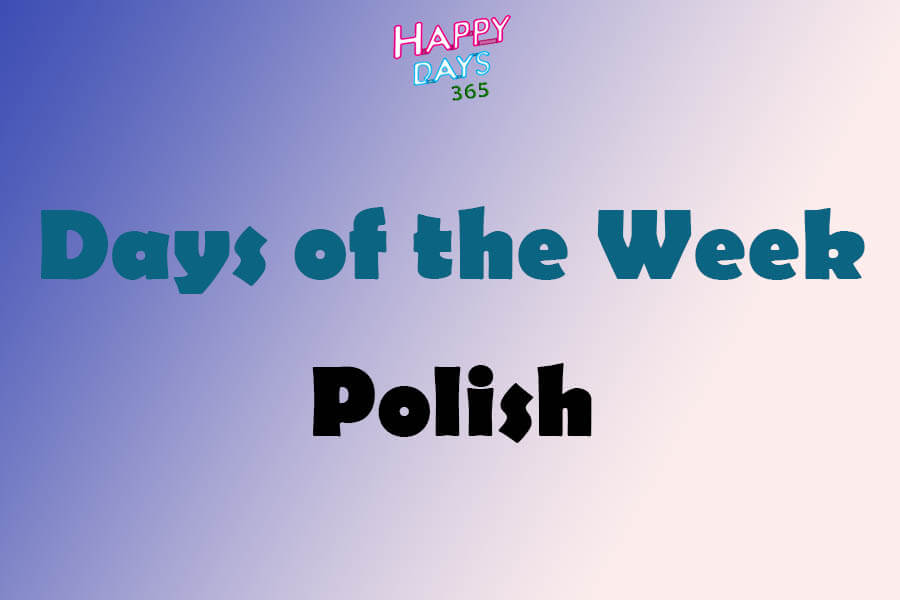 Days of the Week in Polish