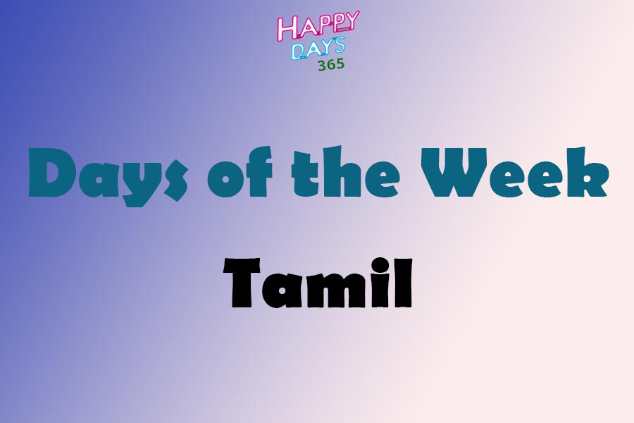 Days of the Week in Tamil