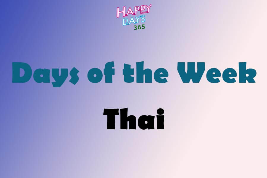 Days of the Week in Thai