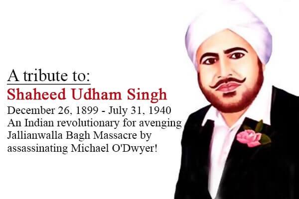 Shaheed Udham Singh's Birthday