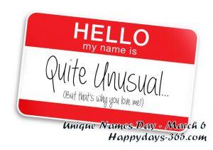 Unique Names Day