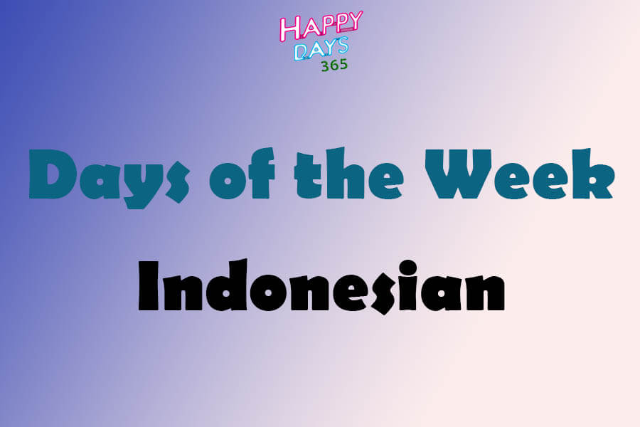 Days of the Week in Indonesian