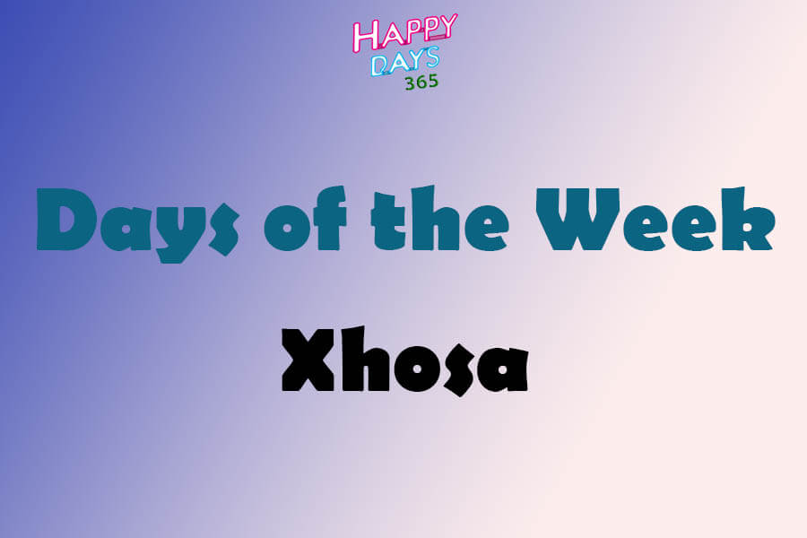 Days of the Week in Xhosa