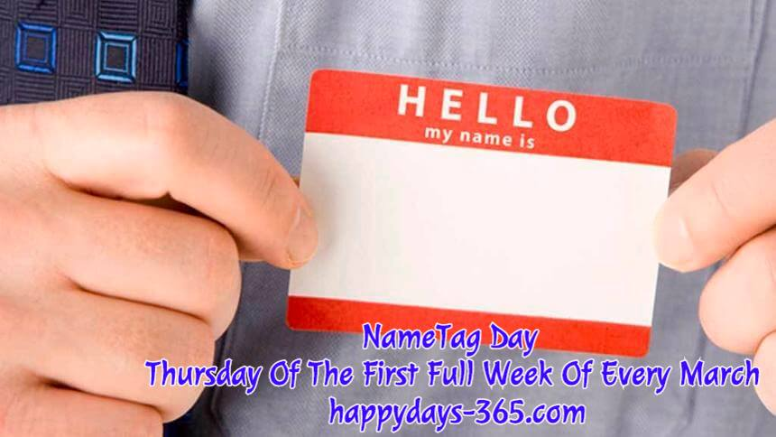 NameTag Day – March 8, 2018