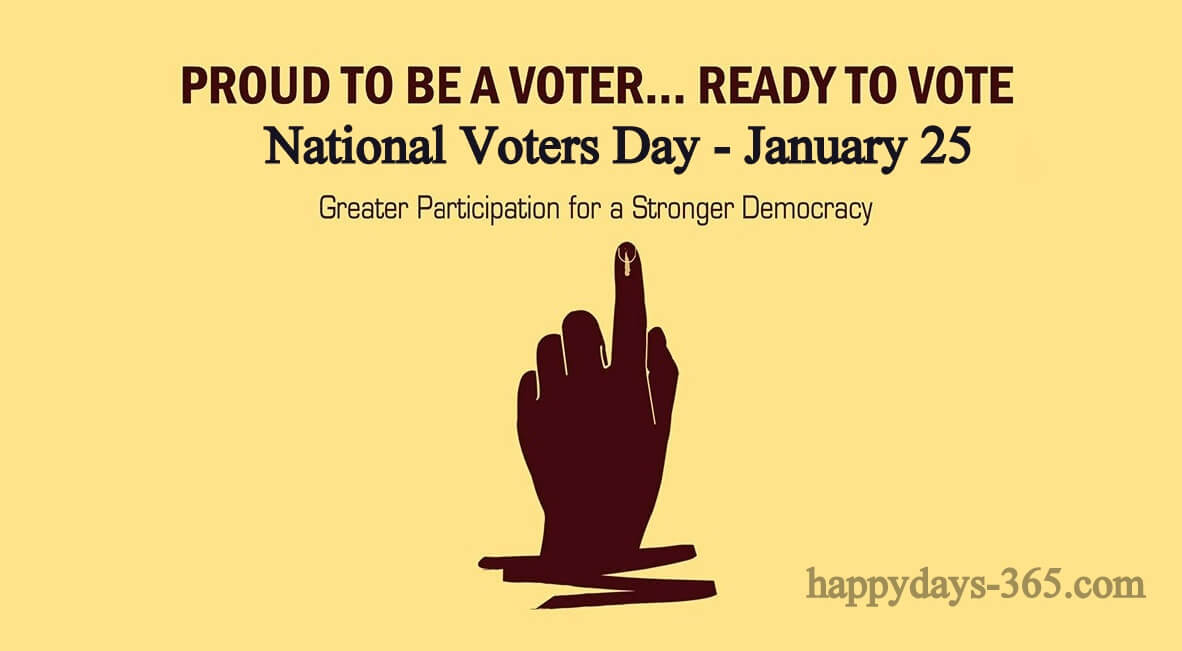 National Voters Day in India – January 25, 2020