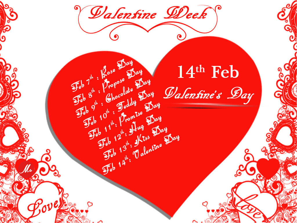 Valentines Week List 2019