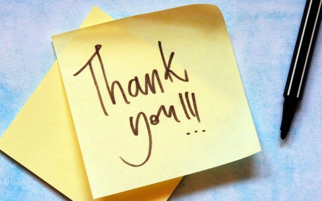 Thank You Thursday – April 22, 2021