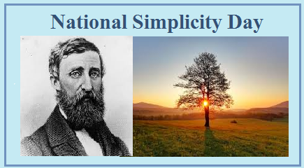 National Simplicity Day – July 12, 2021