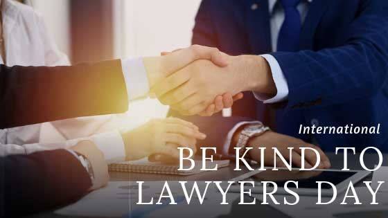 International Be Kind To Lawyers Day – April 13, 2021
