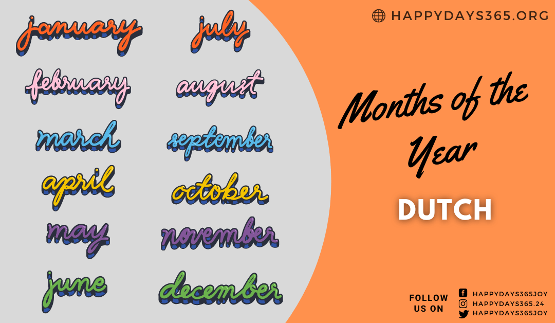 Months of the Year in Dutch