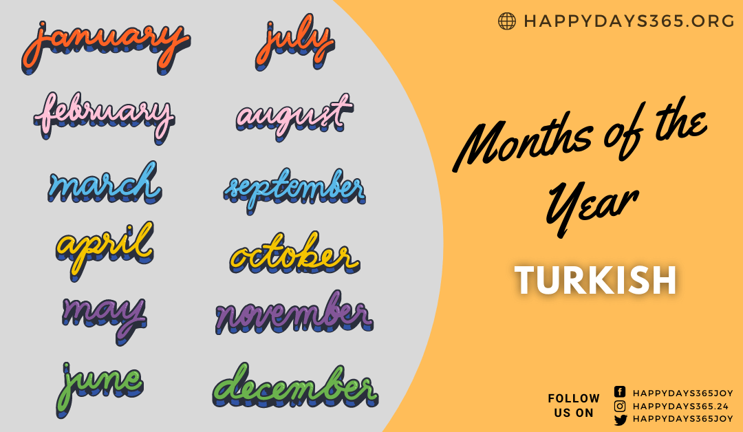 months of the year in Turkish