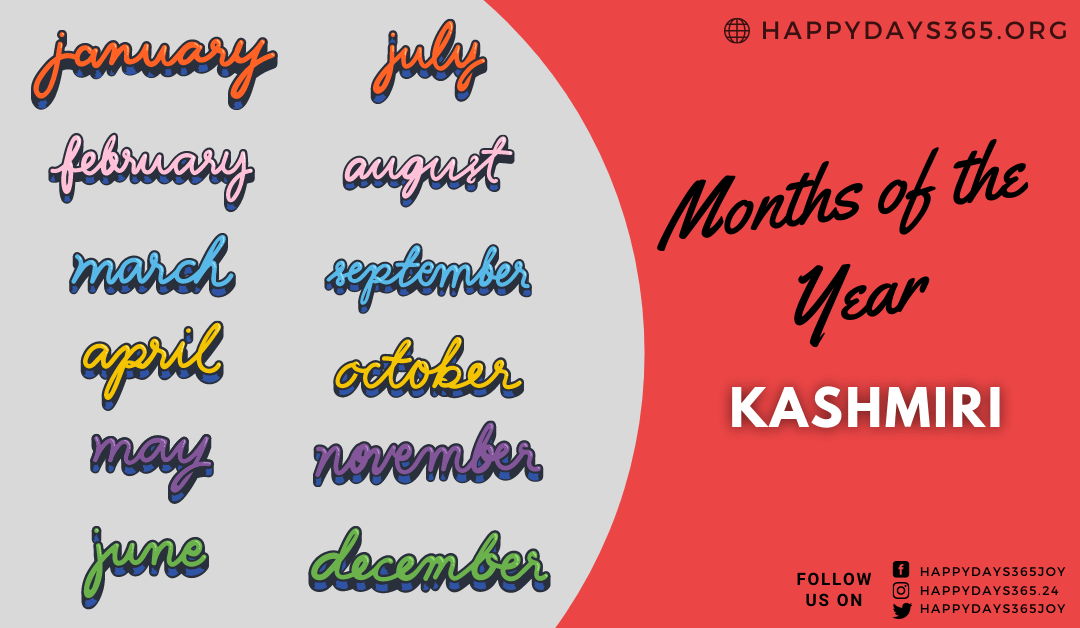 Months of the Year in Kashmiri