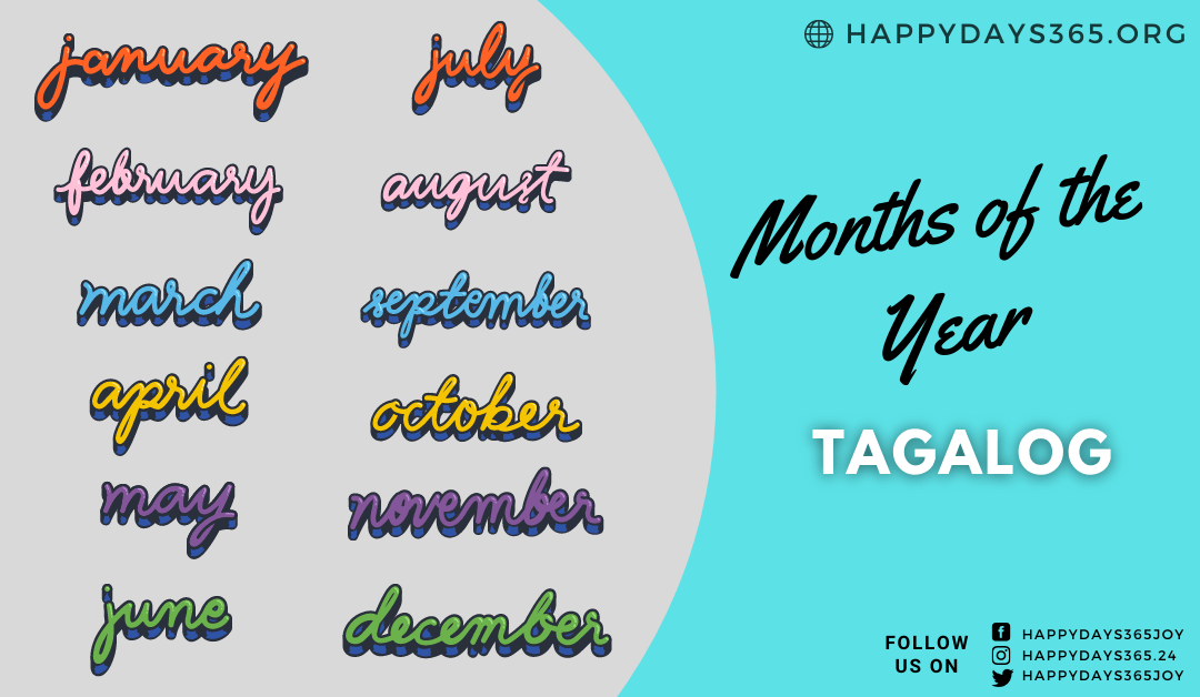 Months of the Year in Tagalog (Filipino)