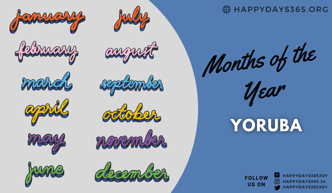 Months of the Year in Yoruba