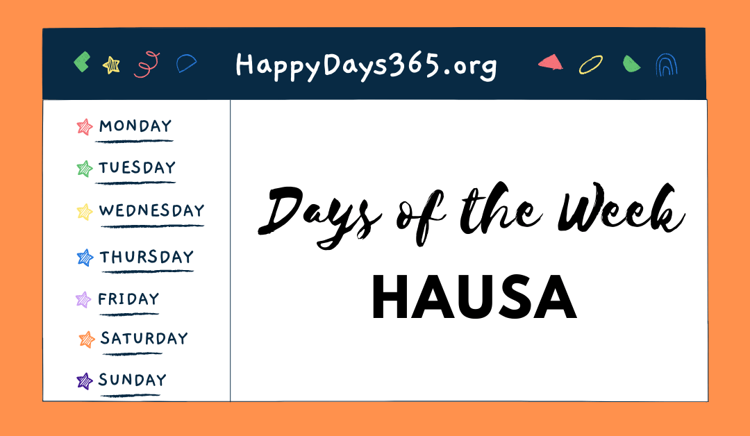 Days of the Week in Hausa