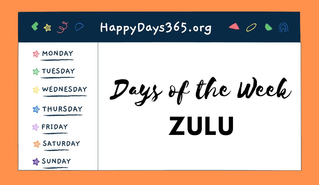 Days of the Week in Zulu