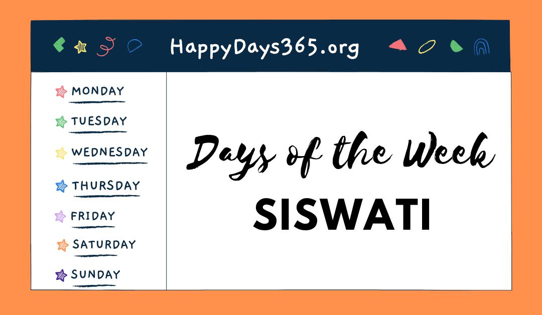 Days of the Week in siSwathi