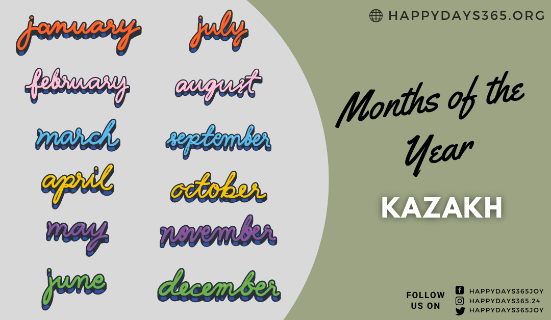 Months of the Year in Kazakh