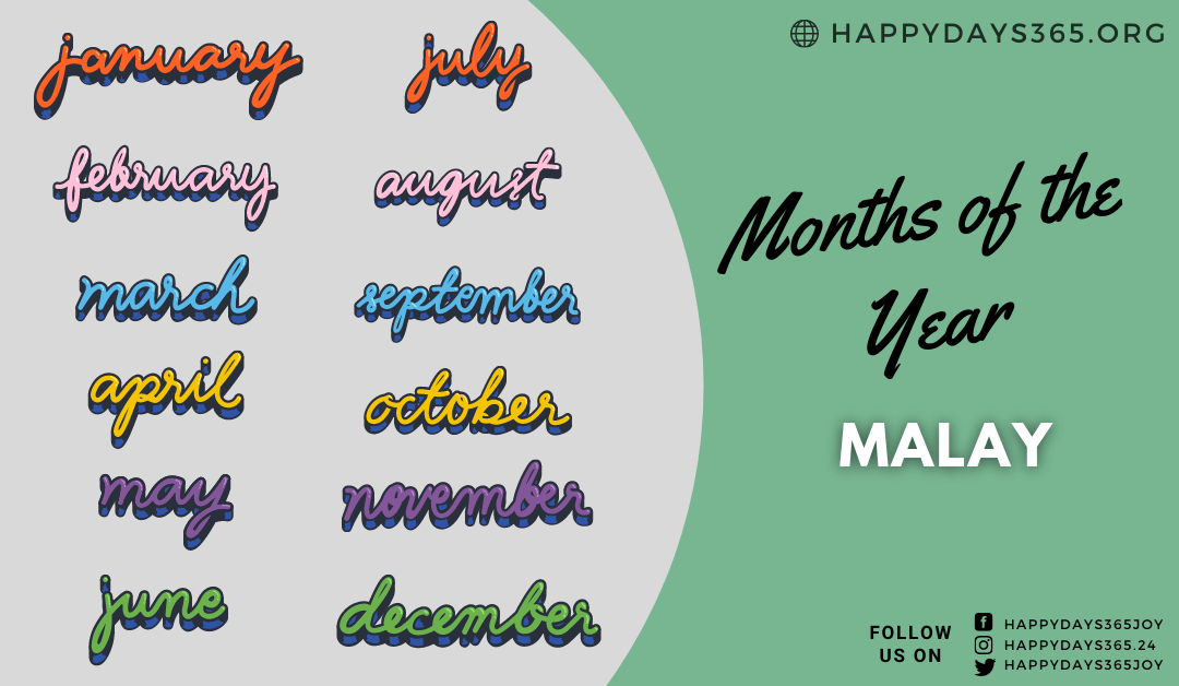 Months of the Year in Malay