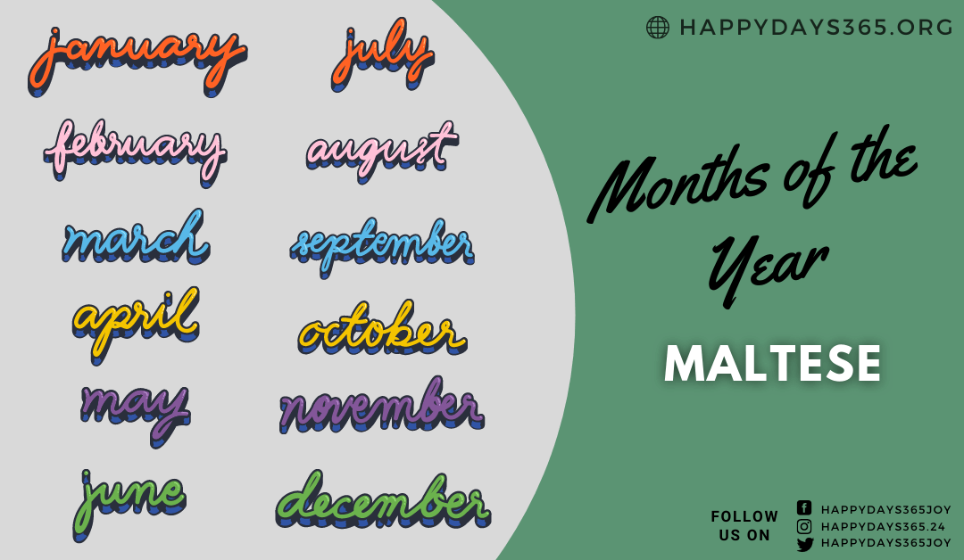 Months of the Year in Maltese