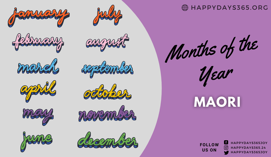 Months of the Year in Maori
