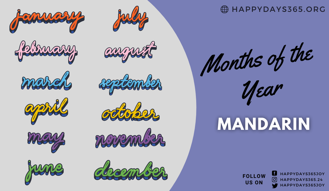 Months of the Year in Mandarin