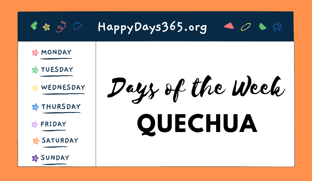 Days of the Week in Quechua